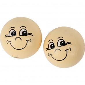 lesene perle z obrazom 22 mm, 1 kos