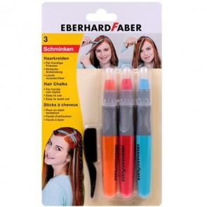 voščenke za barvanje las - oranžna, rdeča, modra, 1 komplet