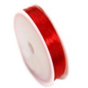 elastična vrvica, 0,5 mm, rdeča, dolžina: 20 m