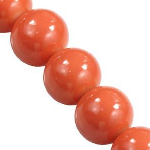 steklene perle 6 mm obložene, rdeče, 1 niz-80 cm