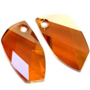 obesek Swarovski 20 mm, crystal copper, 1 kos