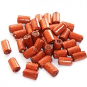 lesene perle, cevne 10x6 mm, rdeče, 50 gr