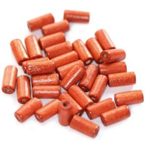 lesene perle, cevne 12x5 mm, rdeče, 50 gr