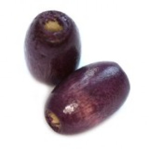 lesene perle, ovalne 12x8 mm, vijola, 50 gr