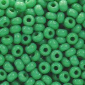 EFCO steklene perle 3,5 mm, neprosojne, zelena barve, 17 g