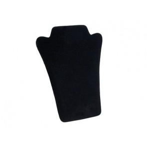 stojalo za ogrlice iz velurja, 18 x 23 cm, črne b., 1 kos