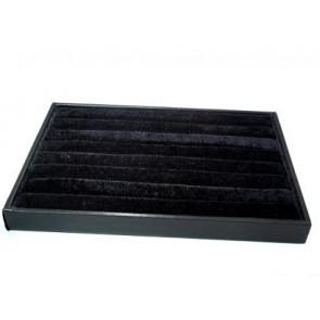 pladenj za prstane 24 x 35 x 3 cm, črne b., 1 kos