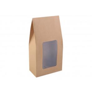 darilna embalaža 11 x 21 x 6 cm, rjave b., 1 kos