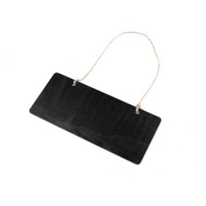 lesena tabla za pisanje s kredami, črna b., juta, 18.5x8 cm, 1 kos