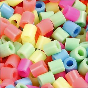 hama perle 5x5 mm, velikost luknje: 2.5 mm, mix - pastelne barve, cca 1000 kos