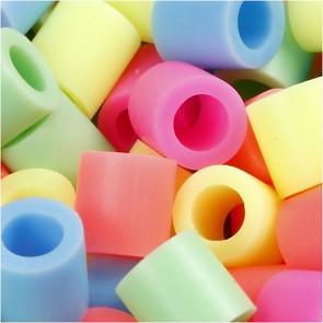 hama perle 10x10 mm, velikost luknje: 5.5 mm, mix - pastelne barve, cca 160 kos