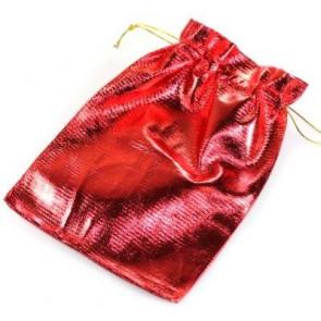 vrečka svetleča 13x18 cm, rdeča, 1 kos