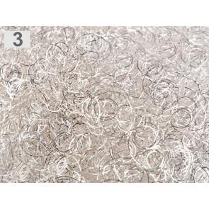 kovinski laski za dekoracijo, srebrno beige, 15 g