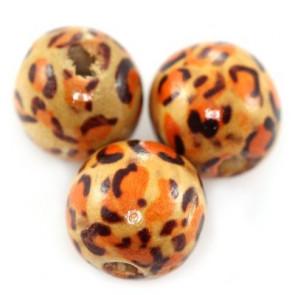 lesene perle okrogle, 14 mm, 50 kos