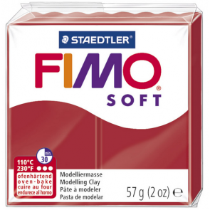 FIMO SOFT modelirna masa, Božično rdeča (2P), 57 g