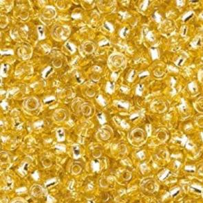 EFCO steklene perle 3,5 mm, prosojne, zlate barve, 17 g