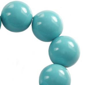 perle Swarovski okrogle, 6 mm, turkizne, 1 kos