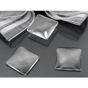 steklena kapljica 20x20x5 mm, prozorna, 1 kos