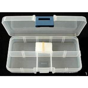 plastična posoda za perle 7cmx13cmx2.3cm, prozorna, 1 kos