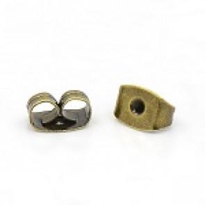 zaključek za uhan 6x4x3 mm, antik, brez niklja, 10 kos