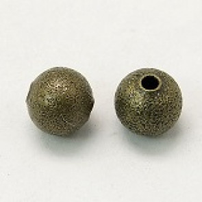 dekorativne perle 6 mm, antik, brez niklja, 5 kos