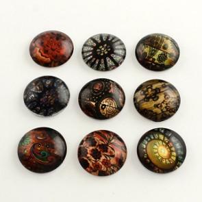 steklena kapljica 14 mm, z vzorcem mix, 1 kos