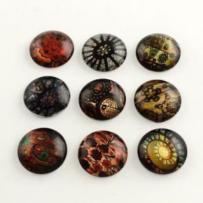 steklena kapljica 18 mm, z vzorcem mix, 1 kos