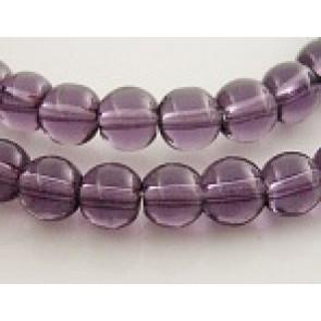 steklene perle 4 mm, vijola, 1 niz - 32 cm