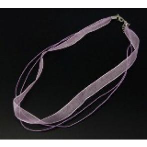 osnova za ogrlico z zaključkom, lavanda, 1 kos