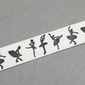 bombažni trak 15 mm, balet, 1 m