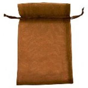 organza vrečke 14x17 cm, rjave, 1 kos