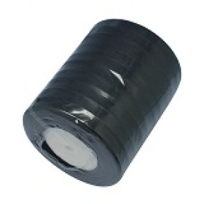 organza trak črn, širina: 12 mm, dolžina: 45 m