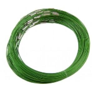 "osnova za ogrlico z zaključkom - ""zajla"", zelena, 1 kos"