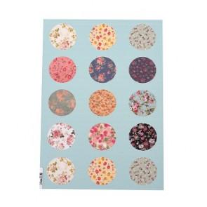 slike za kapljice, 20 mm, mix, 1 listič (15~20 kos)