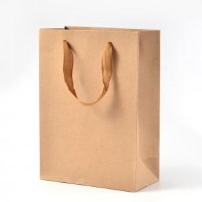 vrečka iz kartona 20x15x6 cm, rjava, 1 kos