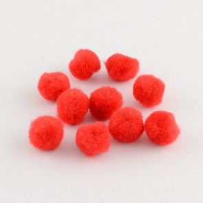 pom pom kroglice 20 mm, rdeče, 50 kos