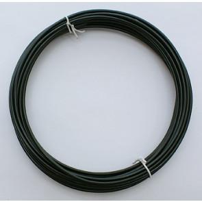 alu barvna žica za oblikovanje, 2 mm, črna, dolžina: 10 m