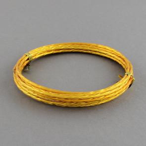 alu barvna žica za oblikovanje, 2 mm, zlato oranžne barve - z vzorcem, dolžina: 2 m
