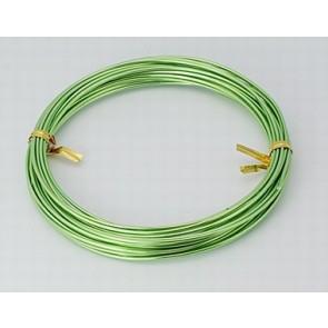 aluminijasta žica za oblikovanje, 1,5 mm, sv.zelena, dolžina: 10