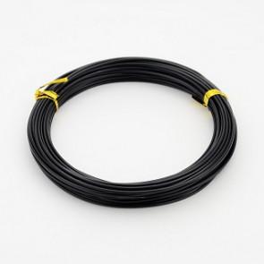 aluminijasta žica za oblikovanje, 1,5 mm, črna, dolžina: 10 m