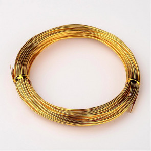 aluminijasta žica za oblikovanje, 1,5 mm, zlato-rumena, dolžina: