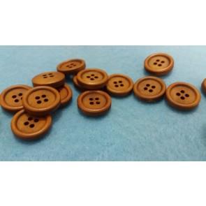 gumbi leseni 15 mm, svetlo rjav, 1 kos