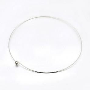 kovinska osnova za ogrlico 14 cm, platinaste b., 1 kos