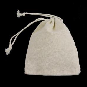 vrečke iz blaga - bombaž, 9x8 cm, naravne b., 1 kos