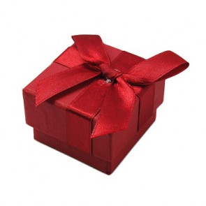škatla za prstan 45x45x33 mm, rdeča, 1 kos