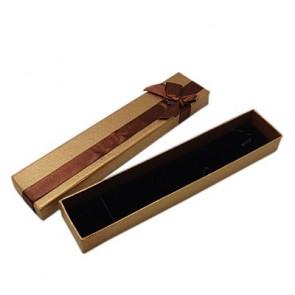 škatla za ogrlico 200x42x25 mm, rjave barve, 1 kos
