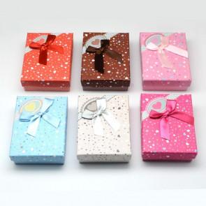 škatla za nakit 90x70x30 mm, svetlo roza, 1 kos