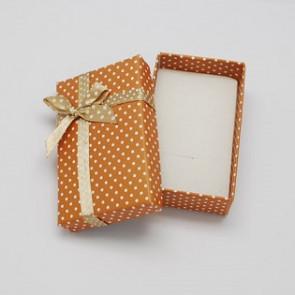 škatla za ogrlico 90x70x30mm, sv. rjava, 1 kos