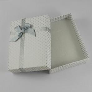 škatla za ogrlico 90x70x30mm, bela, 1 kos