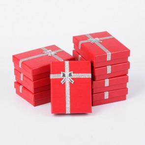 škatla za nakit 90x70x30 mm, rdeče barve, 1 kos